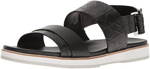 Calvin Klein Men's Dex Ck Emboss Leather Dress Sandal - B...