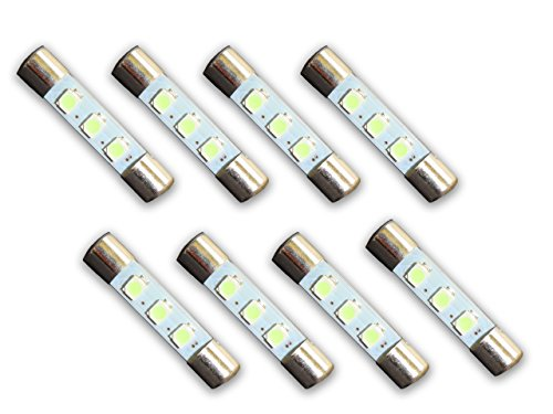 8 Warm White 8V LED Lamp Fuse-Type Bulbs for Pioneer Receivers and Amplifiers
