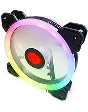 مروحة واحدة RGB LED عالية الأداء 120 مم، بدون وحدة تحكم