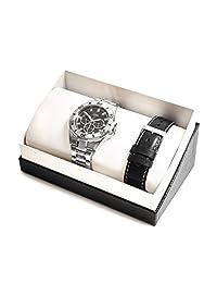 GUESS Factory Men's Silver-Tone Multifunction Watch Set
