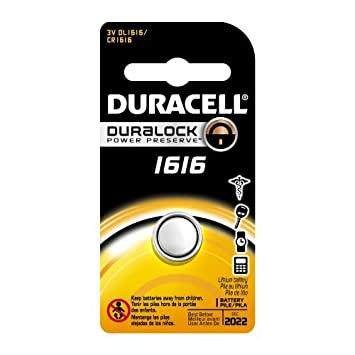 Amazon.com : Duracell DL1616BPK Lithium Coin Battery, 1616 Size, 3V, 55 mAh Capacity (Case of 6) Size: 6 Style: 1616 Model: DL1616BPK : Baby