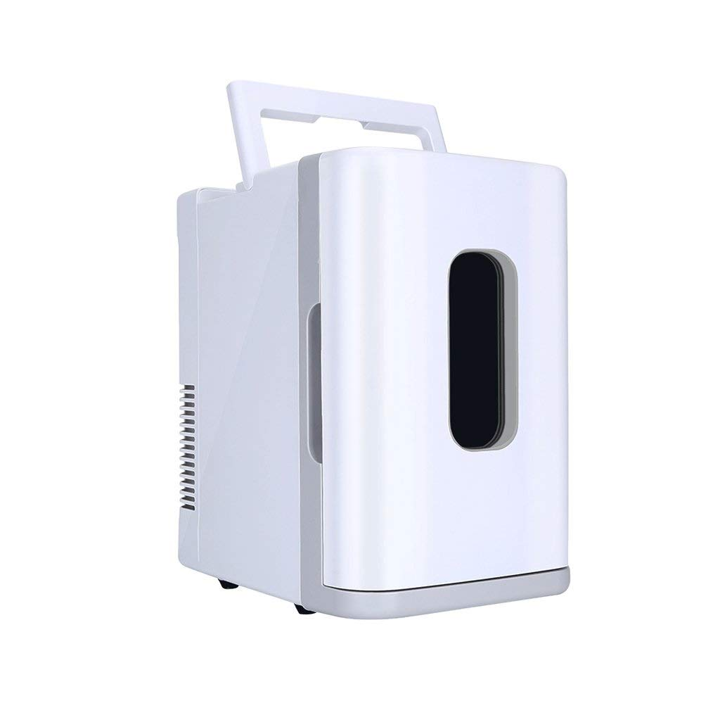 LQQFF Car Refrigerator Mini Fridge Cooler and Warmer 10L Portable and Quiet   AC + DC Power Compatibility Cooling Box for Cars