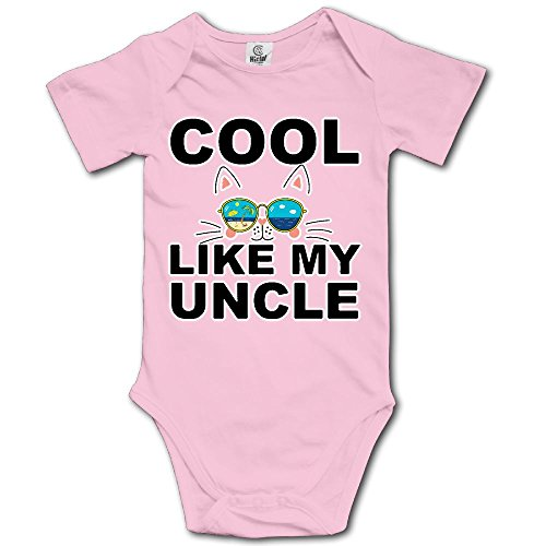 QG ZZX Cool Like My Uncle Funny Baby One-Piece Bodysuit Popular 100% Cotton Romper Outfits]()