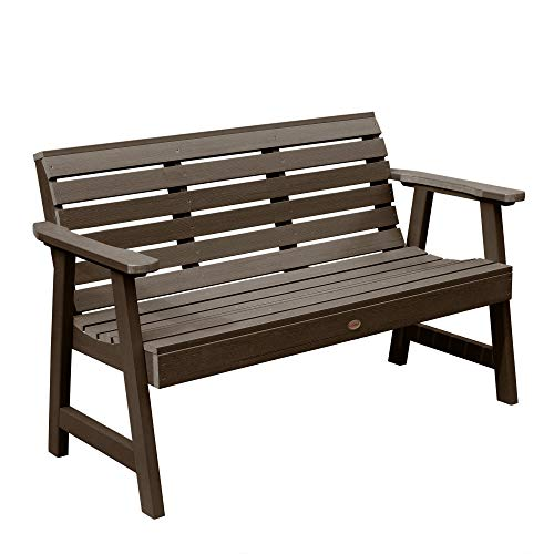 Highwood AD-BENW3-ACE Weatherly Garden Bench, 5 Feet, Weathered Acorn