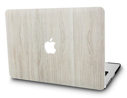 KEC MacBook Air 13 Inch Case Plastic Hard Shell Cover A1369 / A1466 (Pine Wood 2)