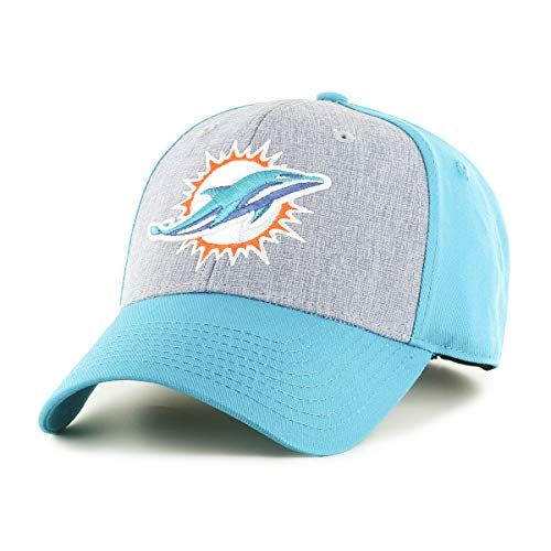 OTS NFL Miami Dolphins Men's Essential All-Star Adjustable Hat, Team Color, One Size
