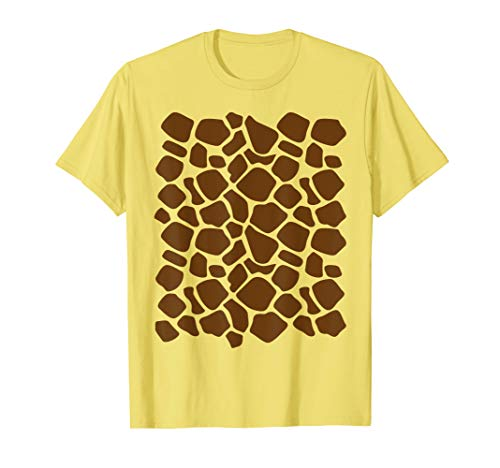 Giraffe Print Shirt Lazy Halloween Costume Idea Gift ()
