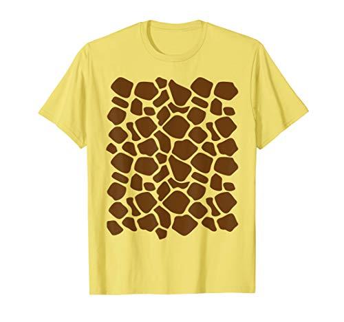 Giraffe Print Shirt Lazy Halloween Costume Idea Gift -