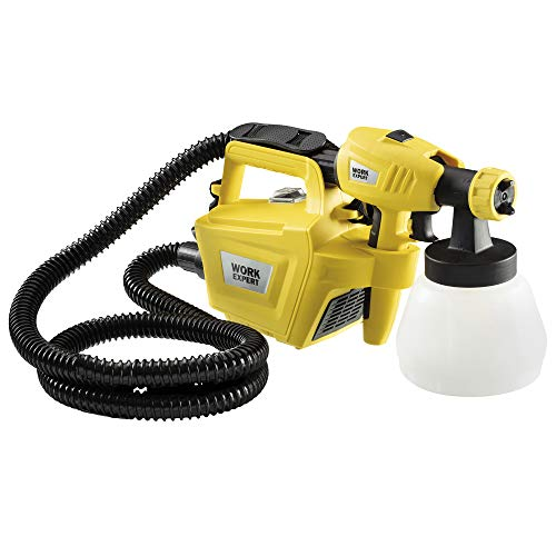 Work Expert Electric Paint Sprayer Wall & Fence Spray Gun, 2m Cable, 4 Nozzles &...