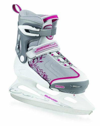 Rollerblade Bladerunner Women's Micro Ice Recreational Adjustable Junior Skate (12 Junior - 2, Silver/Pink)