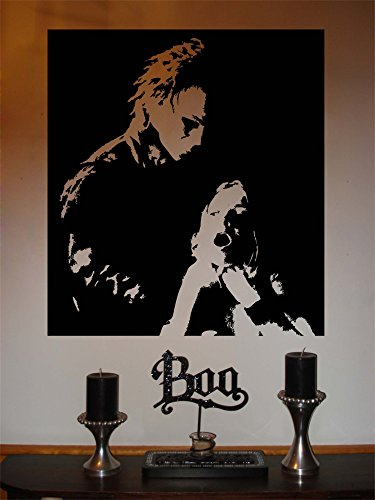 YINGKAI Happy Halloween Holiday Michael Myers Living Room Vinyl Carving Wall Decal Sticker for Halloween Party Home Window -