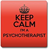 RED Keep Calm Im a Psychotherapist Coaster COLOUR 3463 by Duke Gifts