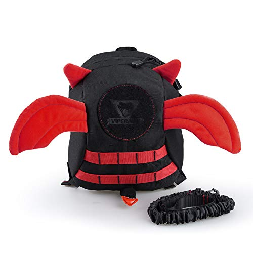 VIPERADE Anti-Lost Devil Wings Kids Backpack, Baby Safety Walking Harness Reins with Elastic Strap, 2-in-1 Safety Travel Outdoor Kids Mini Bag Toddler Strap Backpack (Red - Backpack Devils