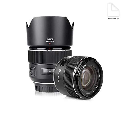 MEIKE 85mm f1.8 Large Aperture Full Frame Auto Focus Prime Telephoto Lens for EOS EF Mount Camera Compatible with APS-C Bodies Such as 1D 5D3 5D4 6D 7D 70D 550D 80D by Zenith Digital Bay