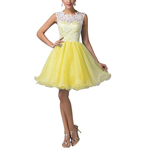 Ysmo - Vestido - trapecio - para mujer amarillo amarillo 46