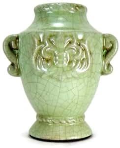 Casa di Francesca Collezione Privata Green Terracotta Decanter Decorative Urn