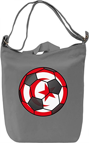 Tunisia Football Borsa Giornaliera Canvas Canvas Day Bag  100% Premium Cotton Canvas  DTG Printing 