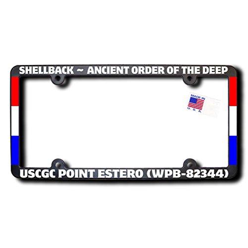 Shellback USCGC POINT ESTERO (WPB-82344) License Frame w/Reflective Text & - Point Estero