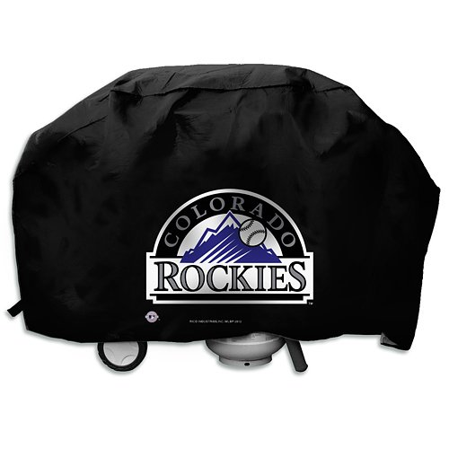 MLB Colorado Rockies Deluxe Grill Cover, Black, 68 x 21 x ()