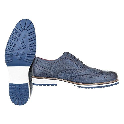 Ital-Design - Mocasines para hombre Azul