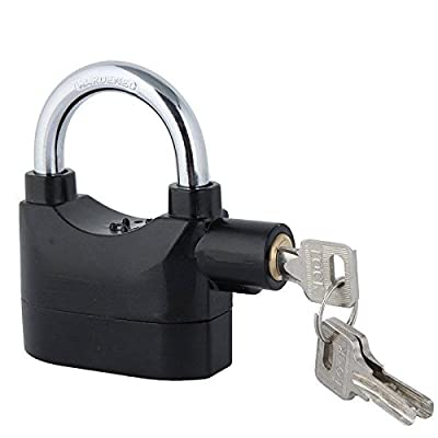 iGrove Siren Alarm Lock Security Anti-Theft Alarmed Padlock Motor Bike Bicycle Black SA1
