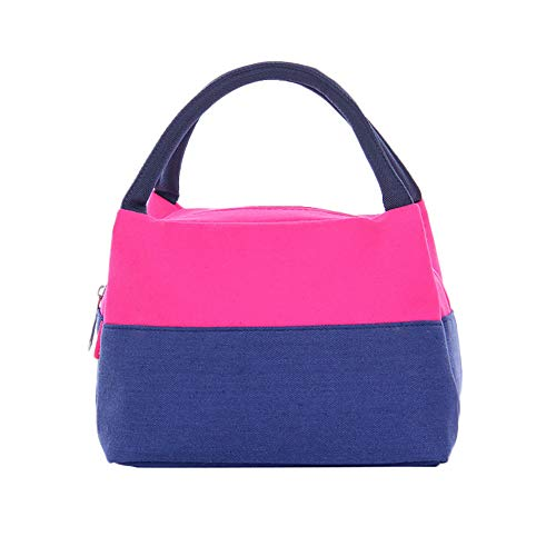 Irene Portable Tote Storage Bag Insulated Thermal Cooler Lunch Box Picnic Case Carry (Hot Pink)