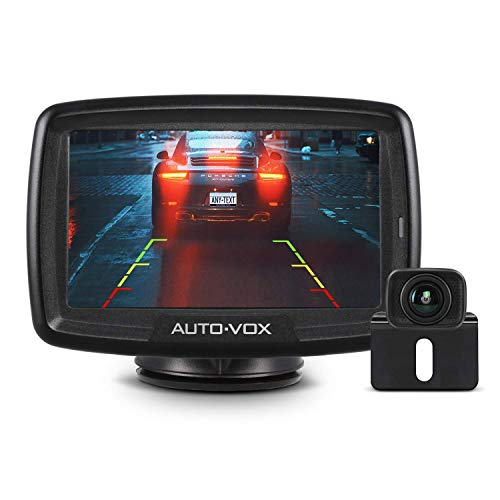 AUTO-VOX CS-2 Wireless Backup Camera Kit with Stable Digital Signal, 4.3 Monitor Rear View Camera for Truck, Van, Camping Car, SUV