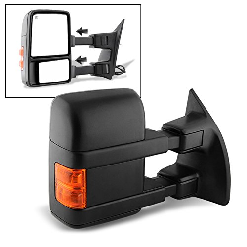 For 08-16 Ford SuperDuty Extendable Towing Power Telescoping Wide Angle Side Mirrors Passenger Side - Extendable Towing Mirrors