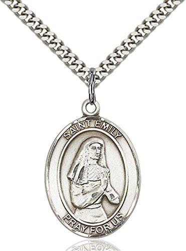 bliss Sterling Silver Saint Emily de Vialar Medal Pendant, 1 Inch