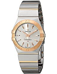 Omega Womens 123.20.27.60.02.001 Constellation Stainless Steel and 18k Gold Dress Watch
