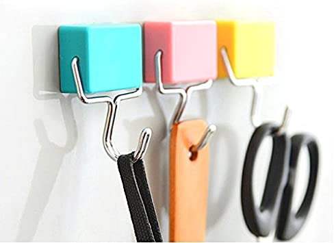 3-Pack All-Purpose Magnetic Hooks Pastel Pink Yellow Blue