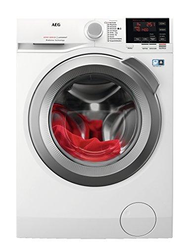 AEG L6FBA48 Waschmaschine / 8 kg / Waschvollautomat mit Mengenautomatik, Nachlegefunktion, Kindersicherung, Schontrommel…