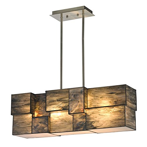 Elk Lighting 72073-4 Cubist Collection 4 Light Chandelier, Brushed Nickel