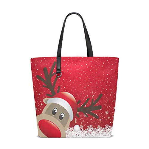 Christmas Cabas Tote Femme 001 Red Pour Reindeer Bennigiry Unique Taille SRUXxqS