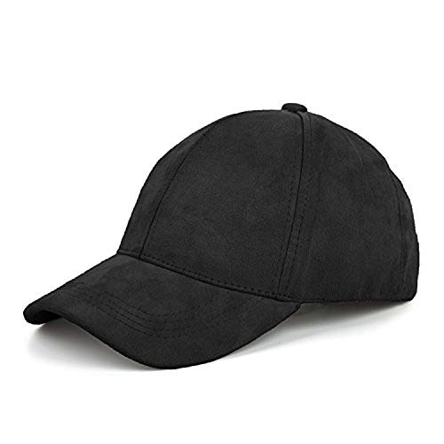 Wilbur Gold New Suede Baseball Cap Mens Casquette Bone Cap Fashion Cap Hip Hop Flat Hat Women Gorras Black