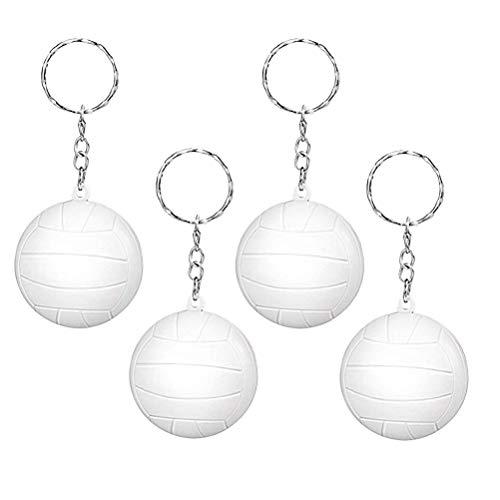 (STOBOK Volleyball Key Ring Handbag Purse Pendant Charms Gym Sports Memorial Gifts Car Bag Keyring Trinket Best Gift for Boys 20pcs (White))