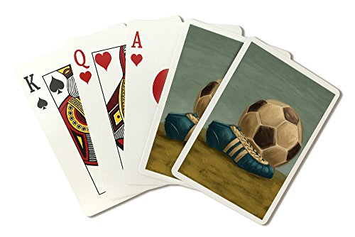 Soccer Ball and Cleat - Oil Painting (Playing Card Deck - 52 Card Poker Size with Jokers)