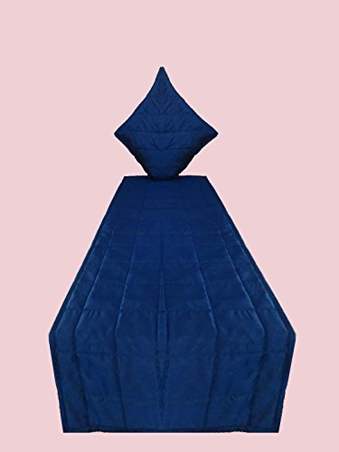 CPEX Long Polyester Silk Royal Blue Bed Runner Handmade Bed Scarf 102'' Wide X 20'' Long For King by CPEX