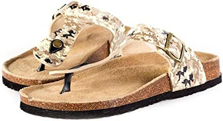 Tjackson Women Flip Flops Slippers Summer Platform Shoes Wood Sole