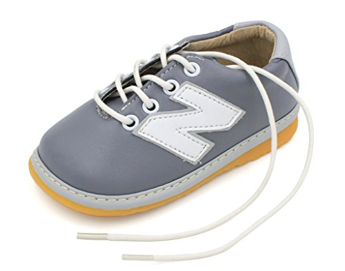 Image of Little Mae's Boutique Gray Toddler Boy Sneaker Squeaky Shoes