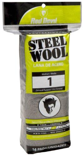 Red Devil 0314 Steel Wool, 1 Medium, (Pack of 16)