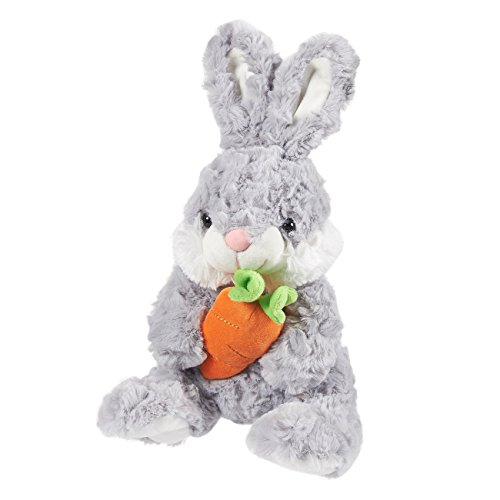 - Blue Panda Bunny Plush - Willow The Bunny, Stuffed Animal for Kids, Soft Rabbit Stuffed Toy, Cute Plushies for Easter Gifts, Gray, 7.5 x 13 x 8 Inches