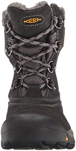 Keen Basin Wp, Zapatos de High Rise Senderismo Unisex Niños Negro (Black/gargoyle)