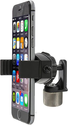 ChargerCity 360° Swivel Smartphone Holder with 5/8 Tripod Microphone Stand Adapter for Apple iPhone XR XS MAX X 8 7 Plus Samsung Galaxy S9 S8 Edge Note LG V30 (Mic Stand is not Included)
