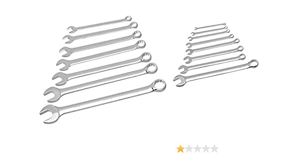 6-24mm Williams 11015 High Polished Wrench Set 19-Piece JH Williams Tool Group