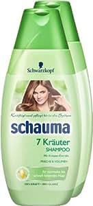 Schauma - Champú con 7 hierbas (2 unidades, 400 ml)