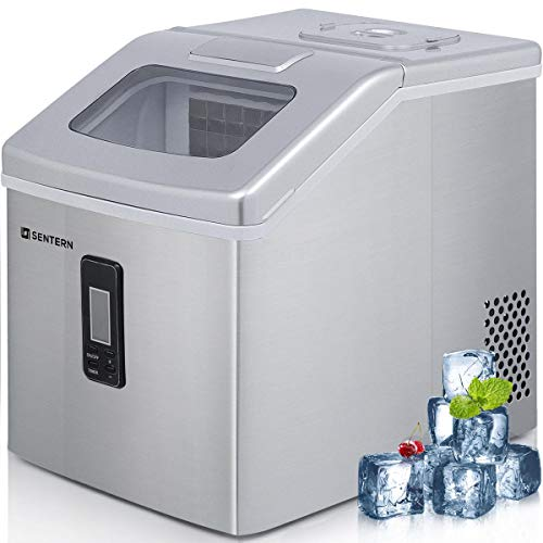 Sentern Portable Electric Clear Ice Maker Machine Stainless Steel Countertop Ice Making Machine 48 lbs Per Day, Real Clear Ice Cubes, Actual Ice, Crystal Clear Ice ... (Clear Ice)