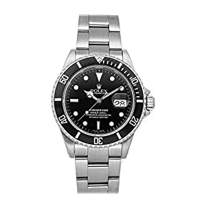 Best Epic Trends 4111iaZiRuL._SS300_ Rolex Submariner Mechanical (Automatic) Black Dial Mens Watch 16610 (Certified Pre-Owned)