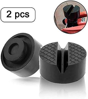YIXISI 2Pcs Bloque de Goma Redondo Protector Goma goma universal para con Ranura para Caballetes de Apoyo Elevadores Gatos de Carretilla Protecci/ón de Veh/ículos