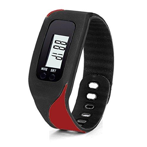 LUNIWEI Digital LCD Pedometer Run Step Walking Distance Calorie Counter Watch Bracelet (Best App For Walking Distance)